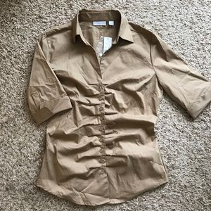 Women's Military Style Button Shirt